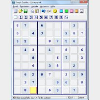 Ein Screenshot von Simple Sudoku.